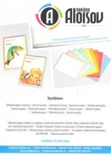 Barevné, bílé, kreslící, akvarelové, psací, balící, speciální papíry a kartony