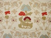 Originální textilie s tkaným motivem v čistém secesním stylu