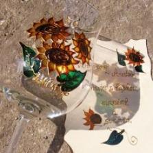 Maľované poháre a fľaše