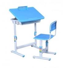 Multifunkční studijní stolek se židličkou Boke - sv. modrá