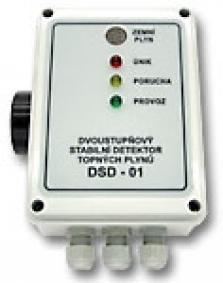Dvoustupňový detektor topných plynů DSD - 01