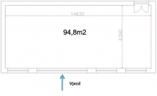 Pronájem 95 m2 výrobních či skladovacích prostor ve Valašském Meziříčí
