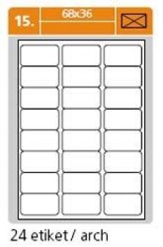 Samolepiace etikety biele - 68 x 36 mm