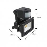 10W LED reflektor bílá s PIR čidlem