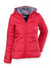 Červená dámská bunda značky SISLEY