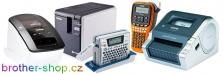 BROTHER P-Touch štítkovače (potisk pásek a bužírek), QL a TD rychlo tiskárny štítků
