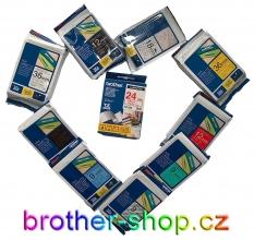 BROTHER originální pásky TZe, TM, ST, HG a bužírky HSe do tiskáren štítků skladem