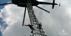 Stavby a montáže vrtulníkem