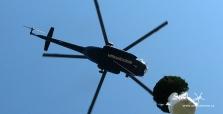 Přeprava materiálu vrtulníkem