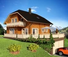 Srubový dům Alpine 307