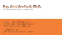Ing. Jana Jandová, Ph.D.  – překlady, korektury, přepisy