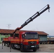 Autodoprava s hydraulickou rukou