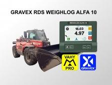 GRAVEX RDS WEIGHLOG 10 - palubní vážicí systém pro zemědělské nakladače