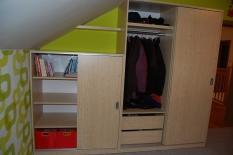 Skříně, skříňky, vestavěné skříně