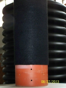 Plastová roura s geotextilním lepeným filtem