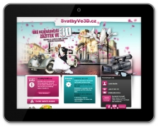 Microsite Svatby ve 3D (www.svatbyve3d.cz)