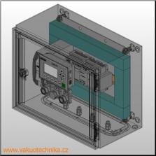 3D model jednoduchého rozvaděče se SIEMENS LOGO!