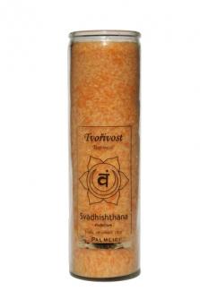 Čakrová svíce z palmového vosku - oranžová