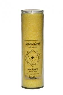 Čakrová svíce z palmového vosku - žlutá