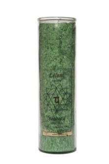 Čakrová svíce z palmového vosku - zelená
