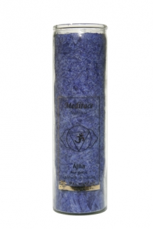 Čakrová svíce z palmového vosku - indigo