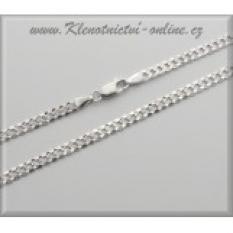 Rhodiované stříbrné řetízky