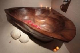 Designové dřevěné vany