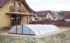 Zastřešení bazénů, makrolonové skleníky