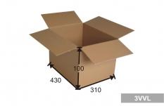 Kartonová krabice 3 vrstvá 430 x 310 x 100 mm