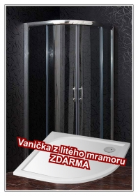Sprchový kout Briliant s vaničkou z litého mramoru Stone - akční set