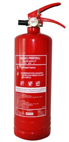 Prenosný hasiaci prístroj P2