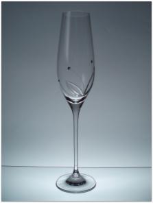 Svadobné poháre s kryštálmi SWAROVSKI - 2x 210ml