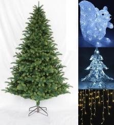 Vianočné stromčeky a osvetlenie
