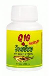 Tablety Q 10 koenzym + ženšen