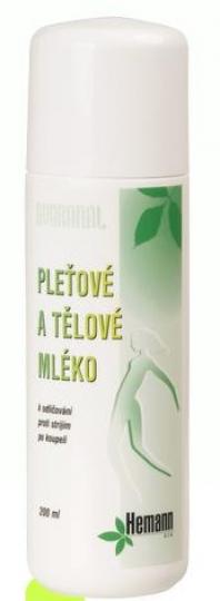 Pleťové a tělové mléko