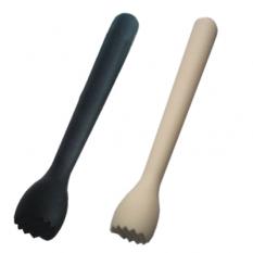 Plastové mádlo Strip - čierna, biela