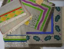 ručne maľovaný textil