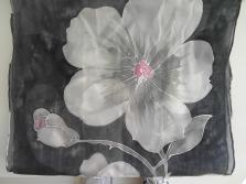 Ručne maľovaný 100% hodváb
