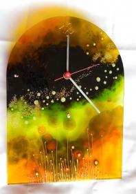 Ručne maľované sklenené hodiny