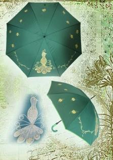 Ručne maľovaný dáždnik