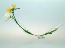 Oboustranná skleněná váza Free