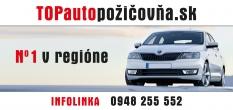 TOPautopozicovna.sk - najlepšia autopožičovňa!