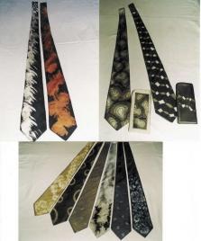 Ručně malované a batikované kravaty