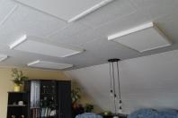 stropní infrapanely ECORA s dřevěným rámem