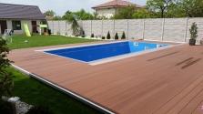Bazénové terasy, drevené terasy, WPC terasy, drevoplast