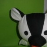 Zvířecí polštářky černobílé