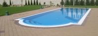 Bazény s prepadovým žľabom