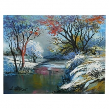 Ručne maľovaný obraz - Zima II