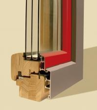 Dřevohliníková okna s izolačními trojskly pro nízkoenergetické a pasivní domy