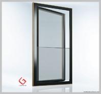 Balkónové dřevohliníkové dveře s integrovaným zábradlím - NOVINKA!